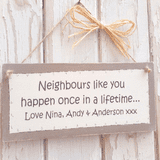 Neighbours like you...Personalised gift plaque